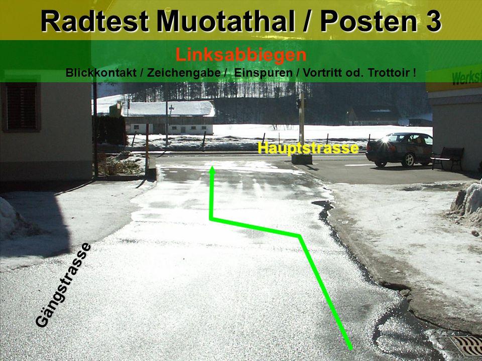 Radtest Muotathal / Posten 3