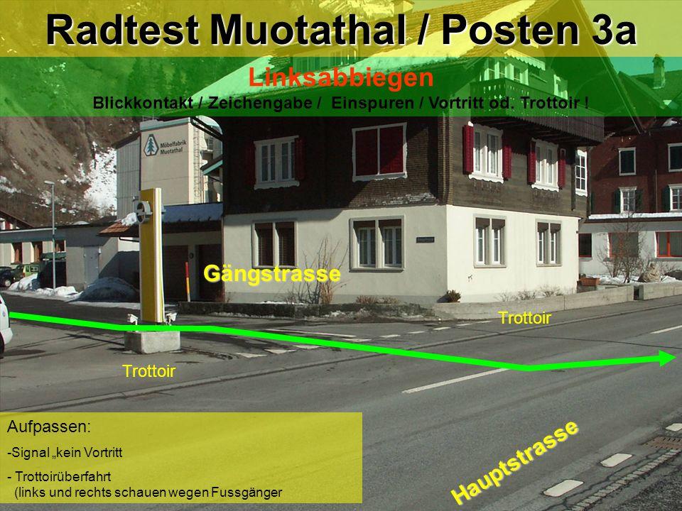 Radtest Muotathal / Posten 3a