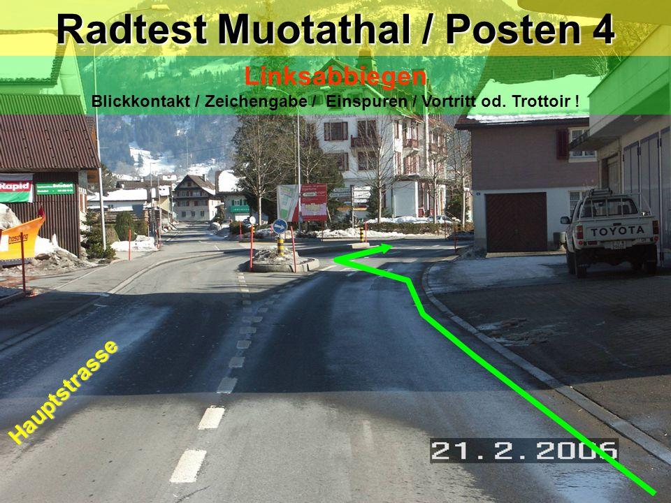 Radtest Muotathal / Posten 4