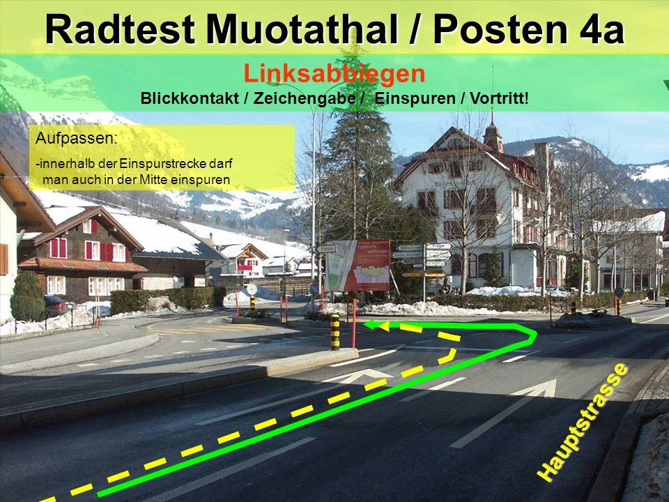 Radtest Muotathal / Posten 4a