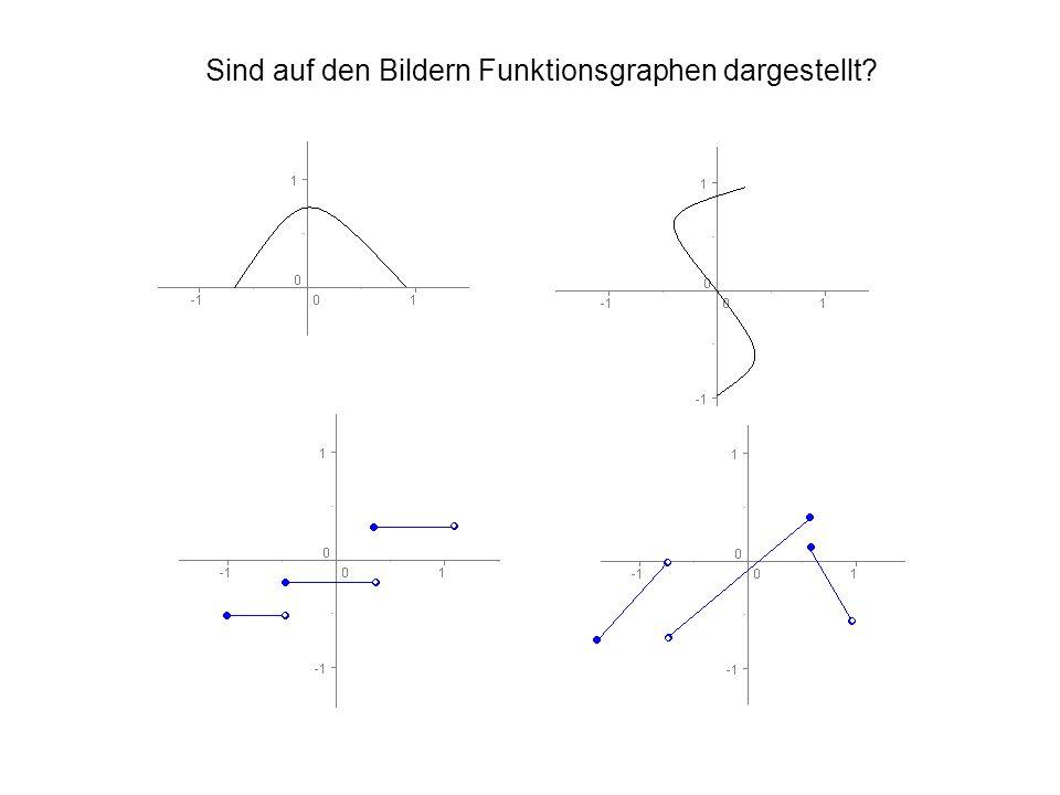 Sind auf den Bildern Funktionsgraphen dargestellt