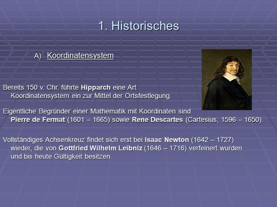 1. Historisches A) Koordinatensystem