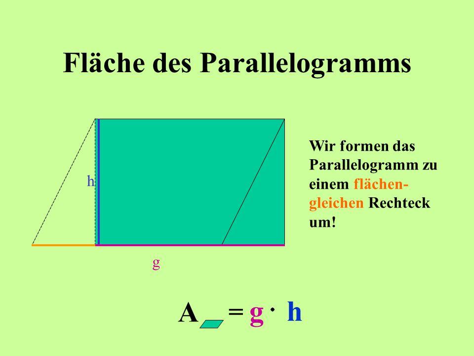 Fläche des Parallelogramms