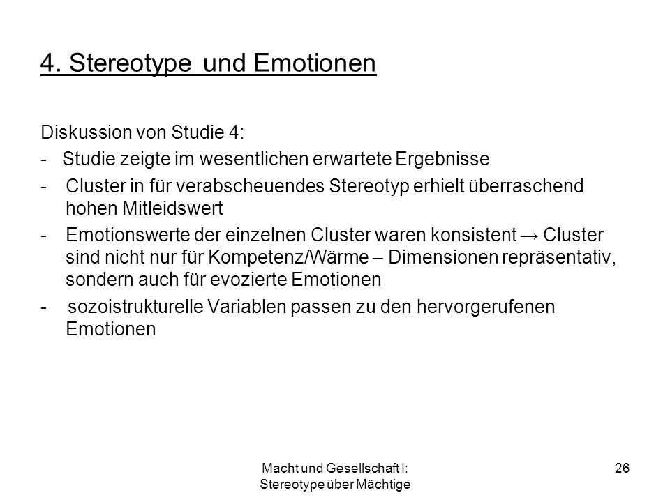 4. Stereotype und Emotionen