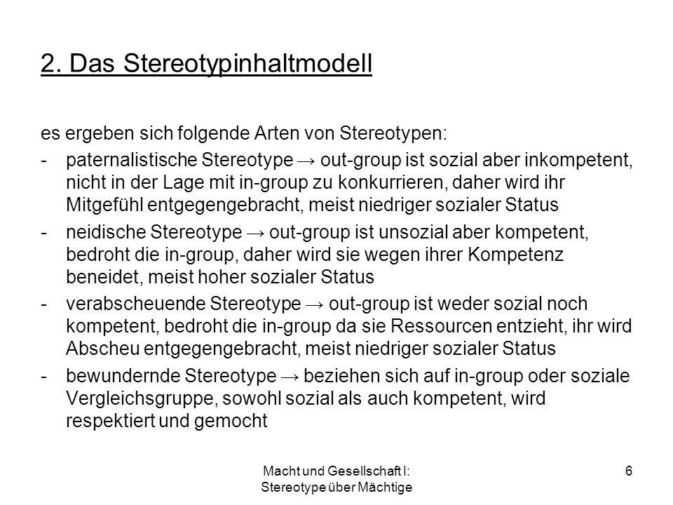 2. Das Stereotypinhaltmodell