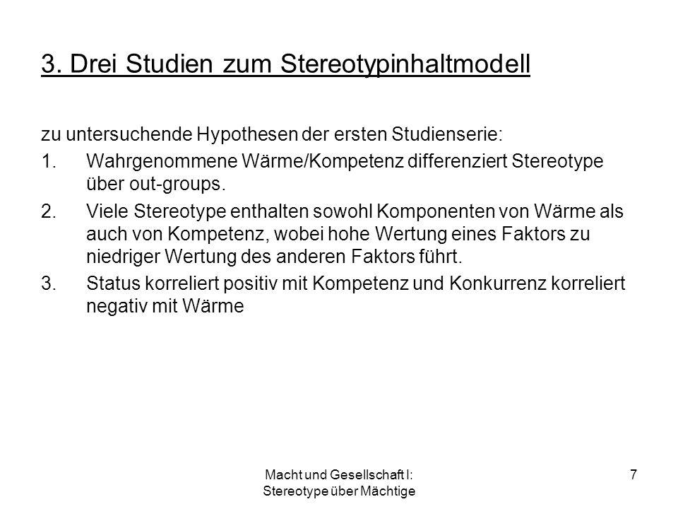 3. Drei Studien zum Stereotypinhaltmodell