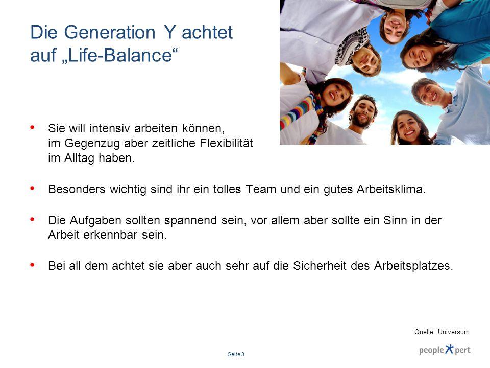 """Die Generation Y achtet auf """"Life-Balance"""