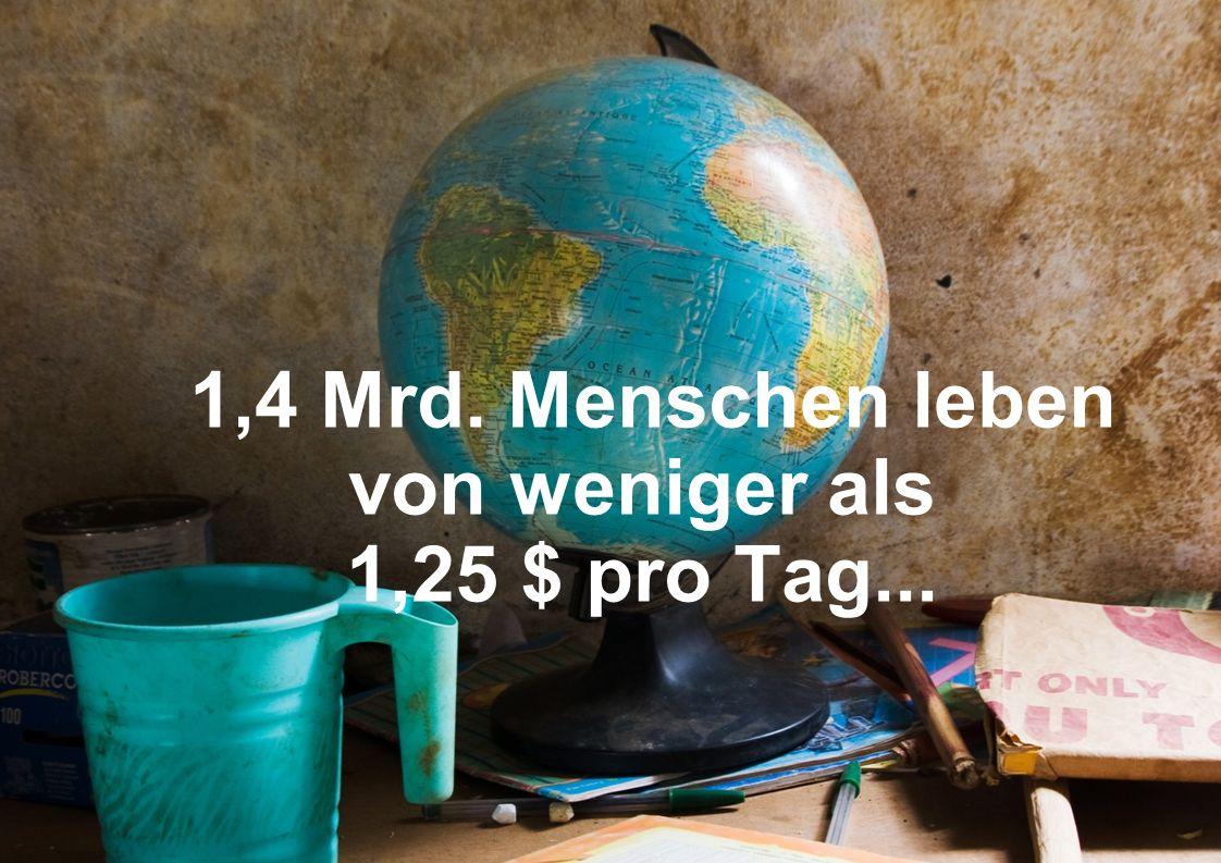 1,4 Mrd. Menschen leben von weniger als 1,25 $ pro Tag...