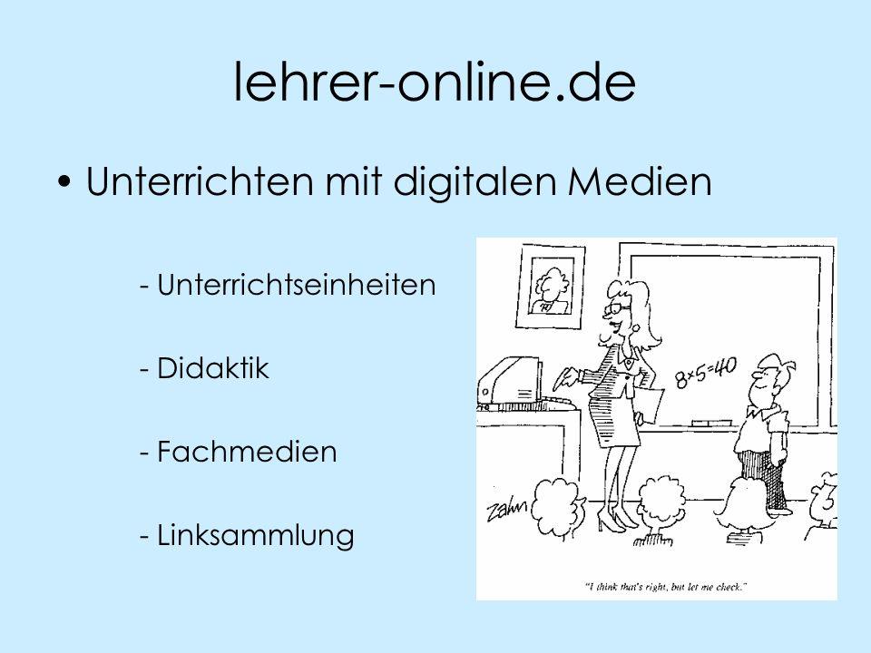 lehrer-online.de Unterrichten mit digitalen Medien