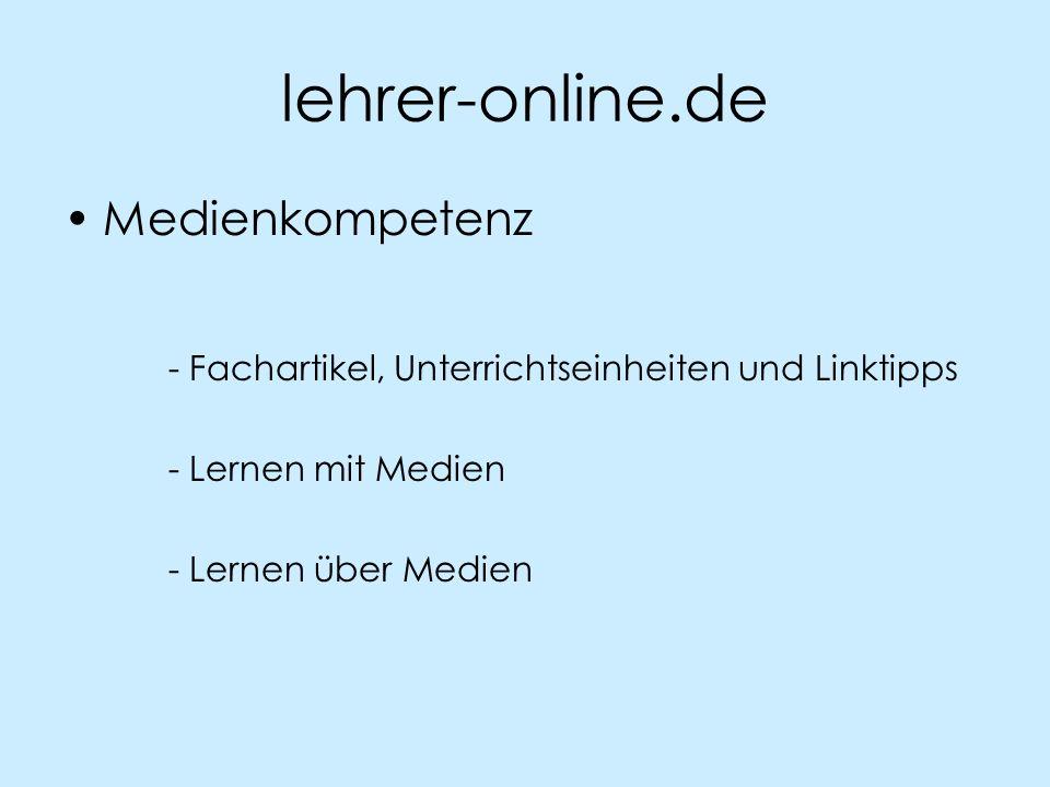 lehrer-online.de Medienkompetenz