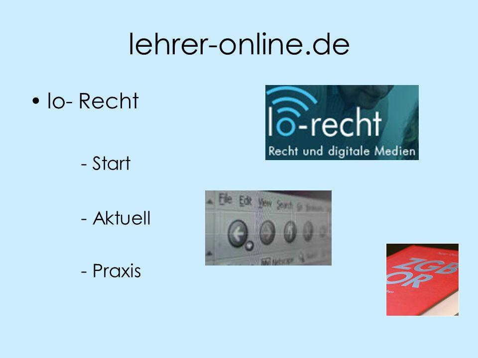 lehrer-online.de lo- Recht - Start - Aktuell - Praxis