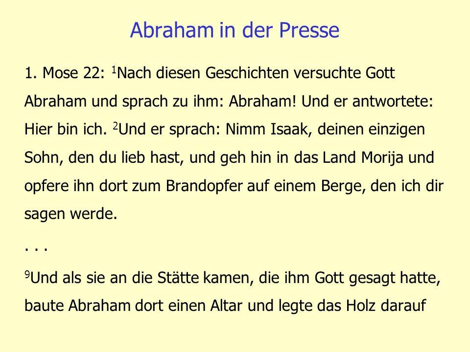 Abraham in der Presse