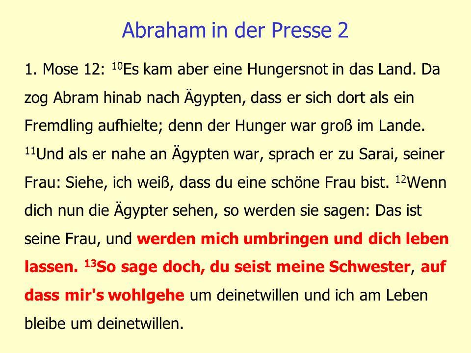 Abraham in der Presse 2