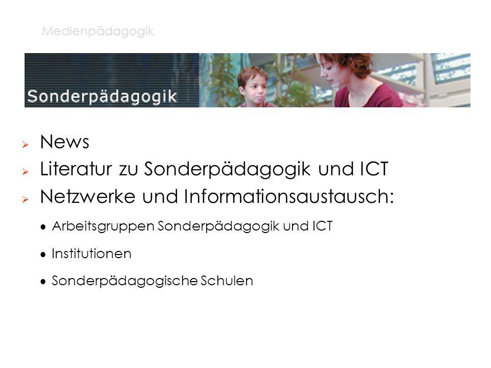 Literatur zu Sonderpädagogik und ICT
