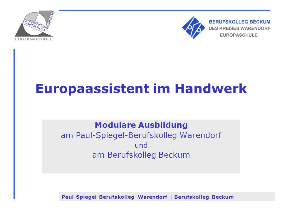 Europaassistent im Handwerk