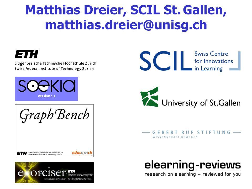 Matthias Dreier, SCIL St. Gallen, matthias.dreier@unisg.ch