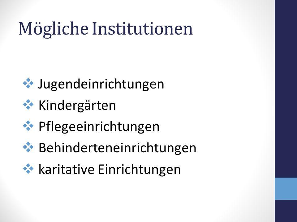 Mögliche Institutionen