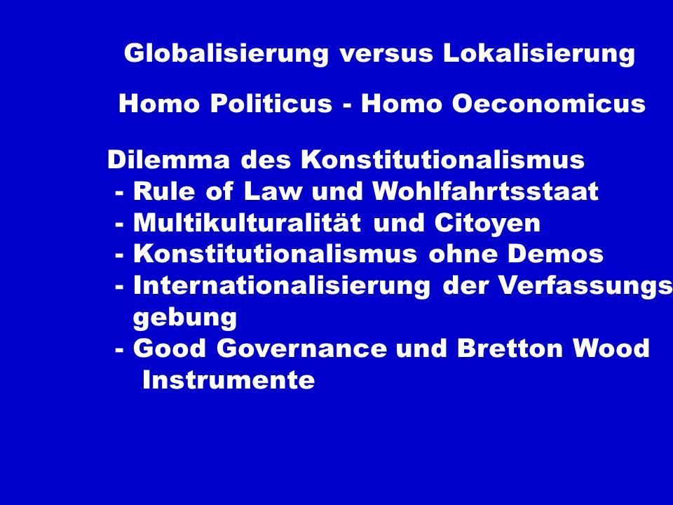 Globalisierung versus Lokalisierung