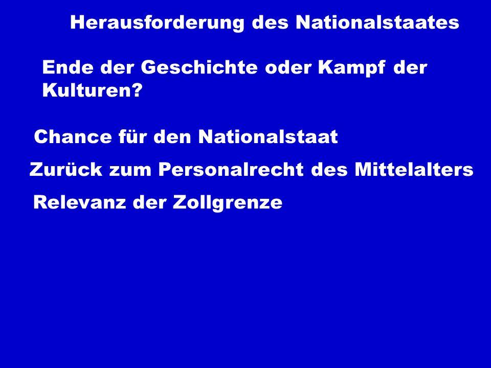 Herausforderung des Nationalstaates