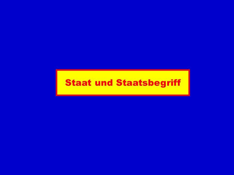 Staat und Staatsbegriff