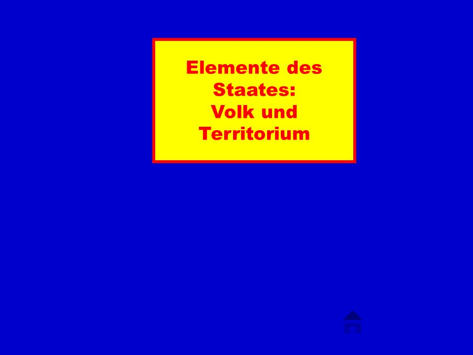 Elemente des Staates: Volk und Territorium