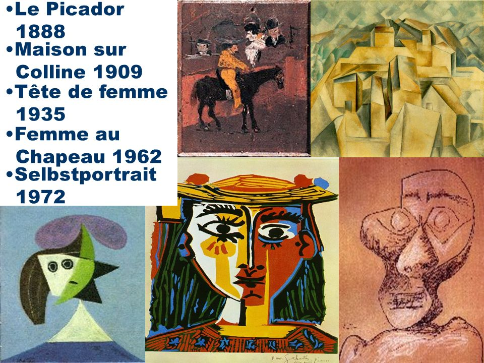 Lebensphasen von Picasso