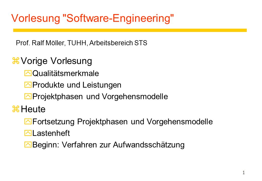 Vorlesung Software-Engineering