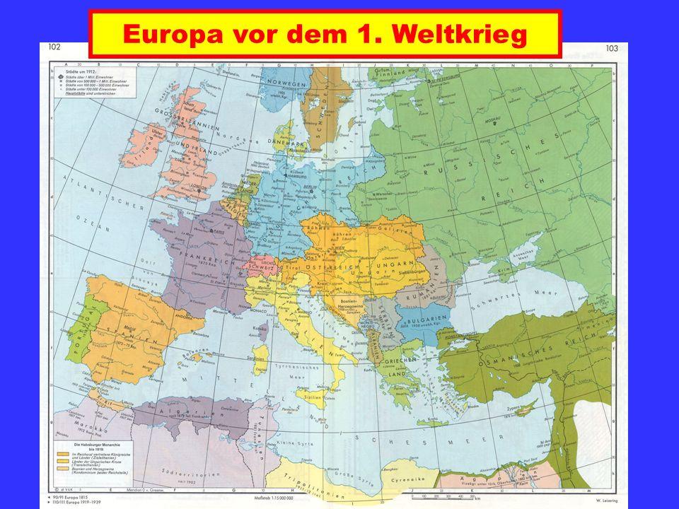 Europa vor dem 1. Weltkrieg
