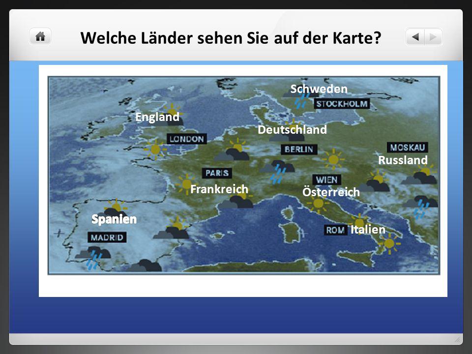 Welche Länder sehen Sie auf der Karte