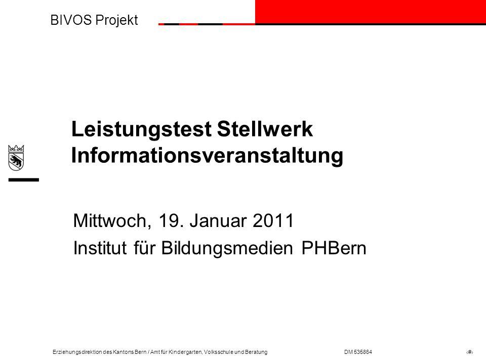 Leistungstest Stellwerk Informationsveranstaltung
