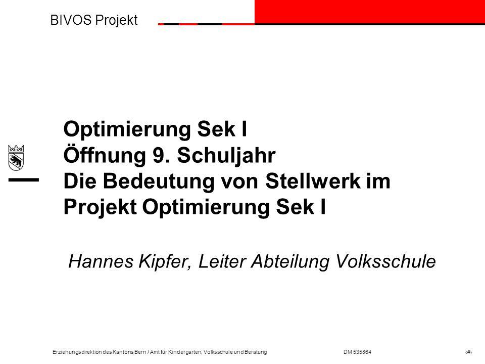 Hannes Kipfer, Leiter Abteilung Volksschule