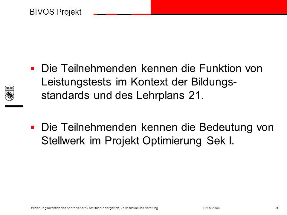 Die Teilnehmenden kennen die Funktion von Leistungstests im Kontext der Bildungs-standards und des Lehrplans 21.