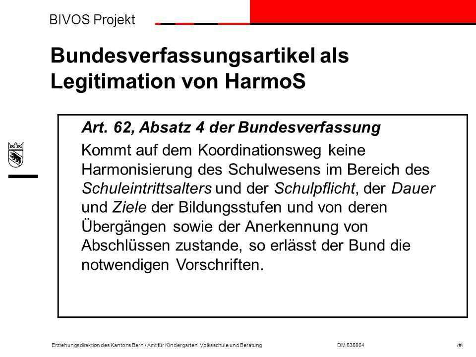 Bundesverfassungsartikel als Legitimation von HarmoS