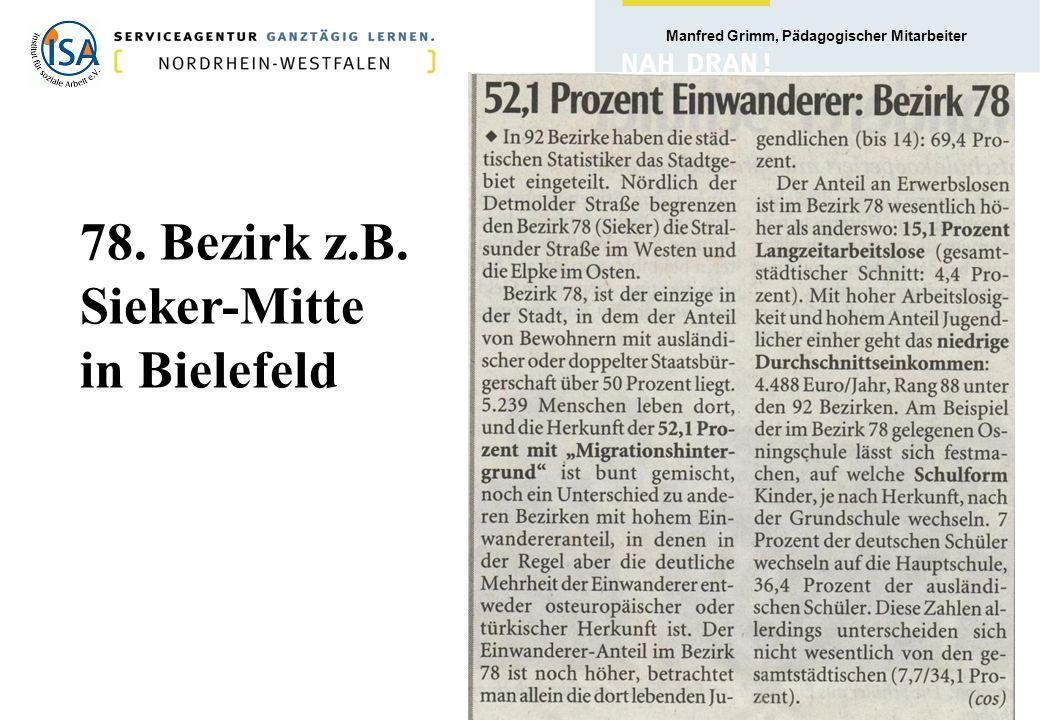 78. Bezirk z.B. Sieker-Mitte in Bielefeld
