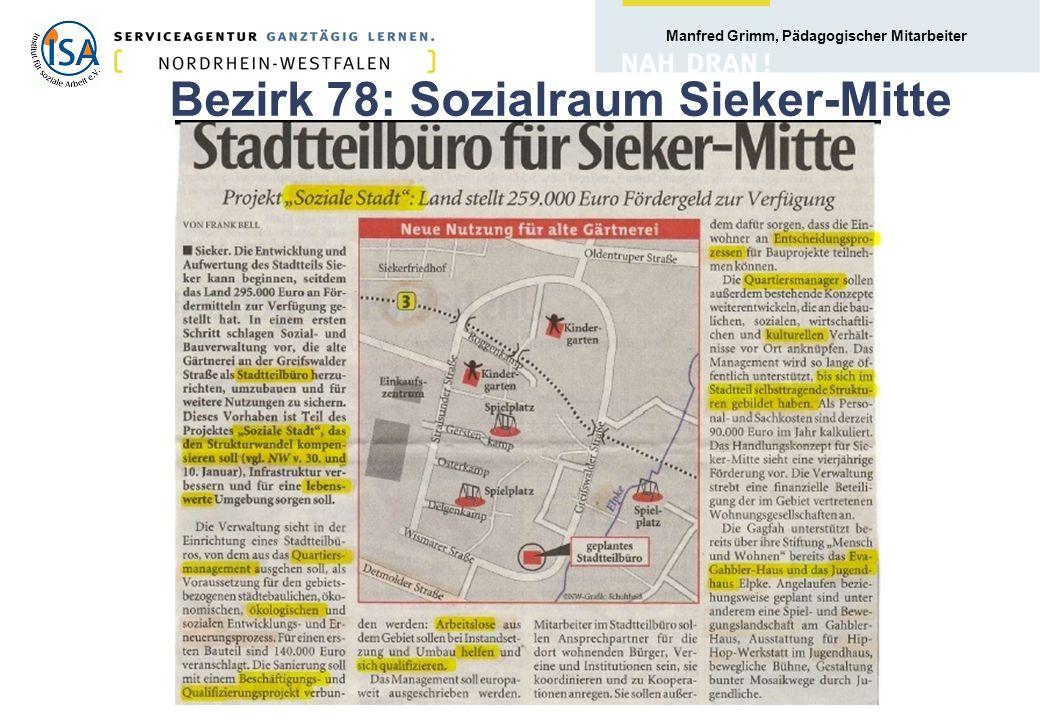 Bezirk 78: Sozialraum Sieker-Mitte