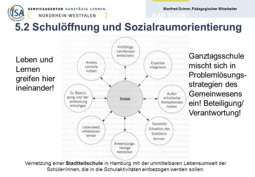 5.2 Schulöffnung und Sozialraumorientierung