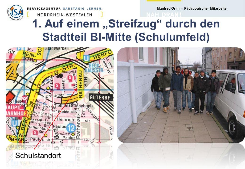 """1. Auf einem """"Streifzug durch den Stadtteil BI-Mitte (Schulumfeld)"""