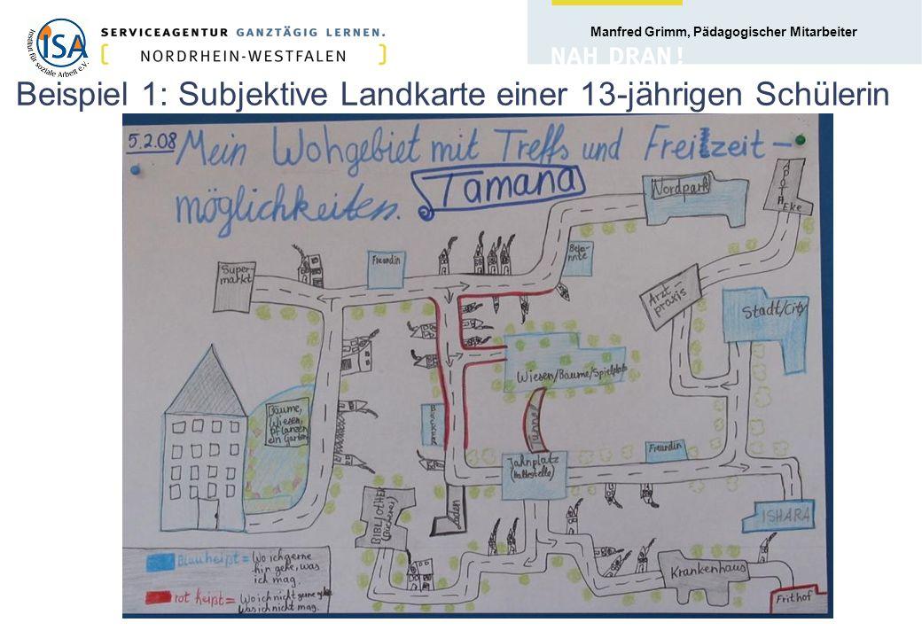 Beispiel 1: Subjektive Landkarte einer 13-jährigen Schülerin
