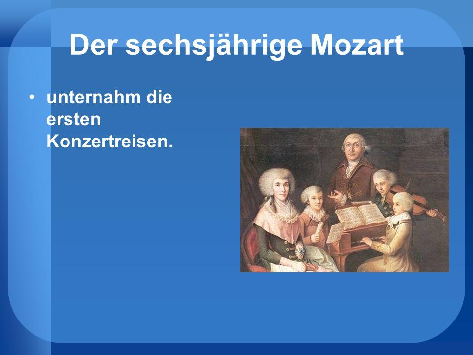 Der sechsjährige Mozart