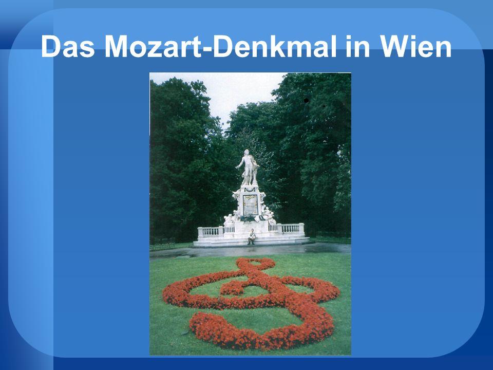 Das Mozart-Denkmal in Wien