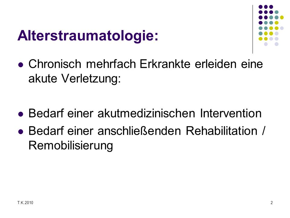 Alterstraumatologie: