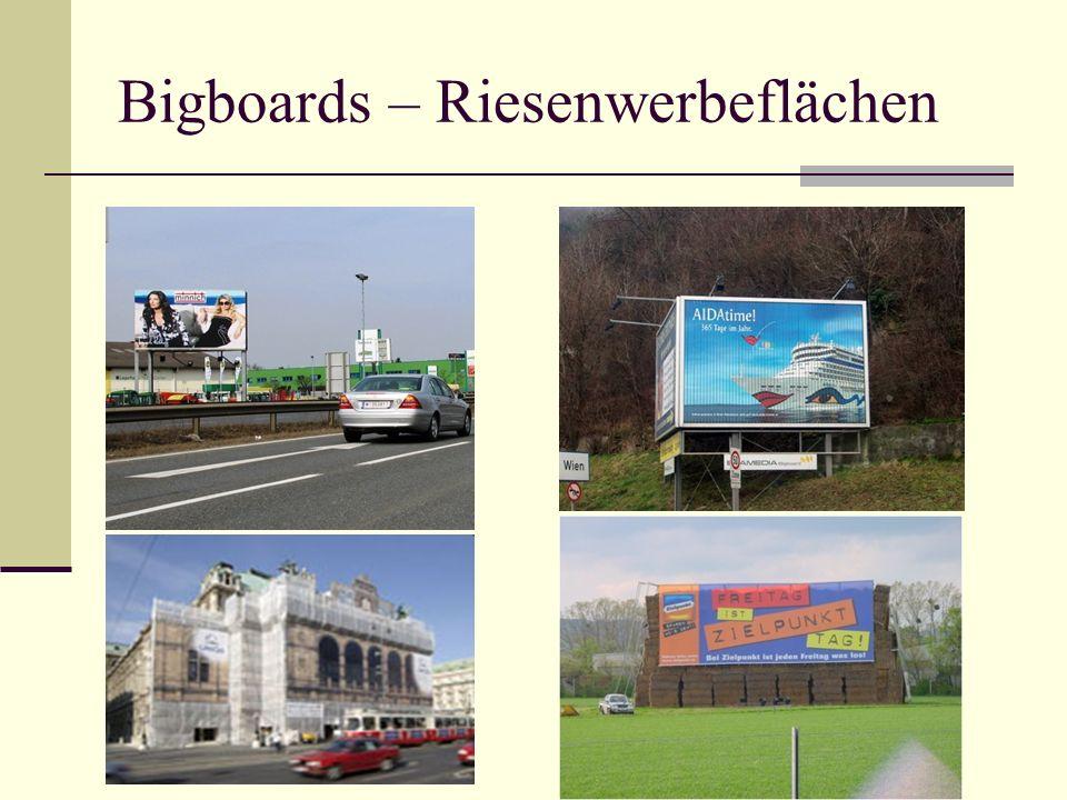 Bigboards – Riesenwerbeflächen
