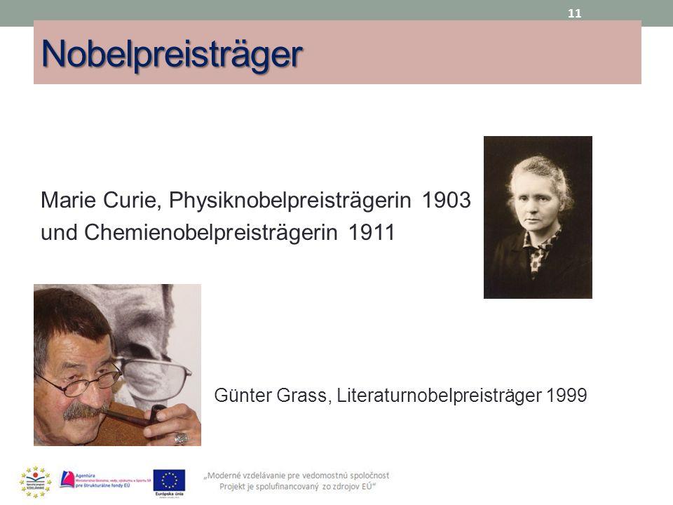 Nobelpreisträger Marie Curie, Physiknobelpreisträgerin 1903