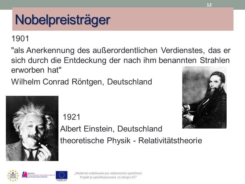 Nobelpreisträger 1901.