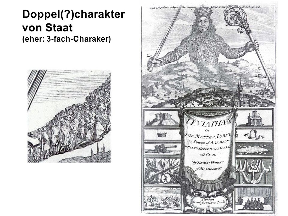 Doppel( )charakter von Staat (eher: 3-fach-Charaker)