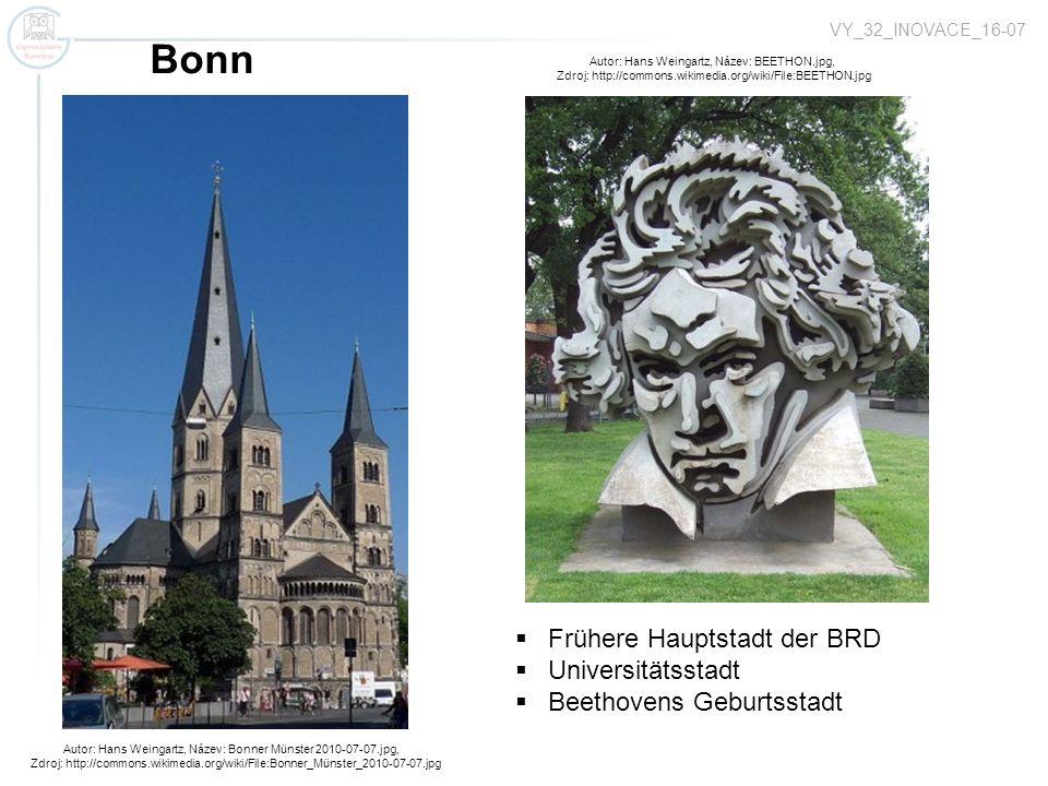 Bonn Frühere Hauptstadt der BRD Universitätsstadt