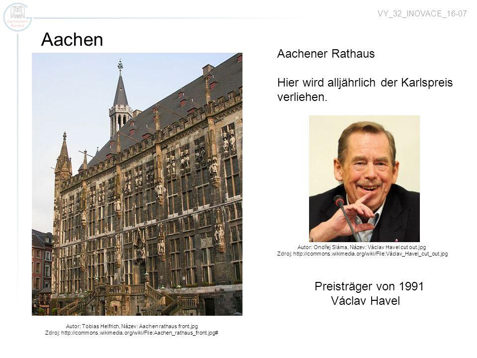 Aachen Aachener Rathaus Hier wird alljährlich der Karlspreis