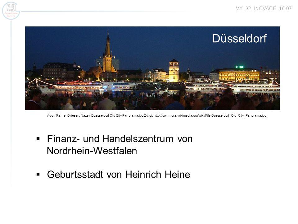 Düsseldorf Finanz- und Handelszentrum von Nordrhein-Westfalen