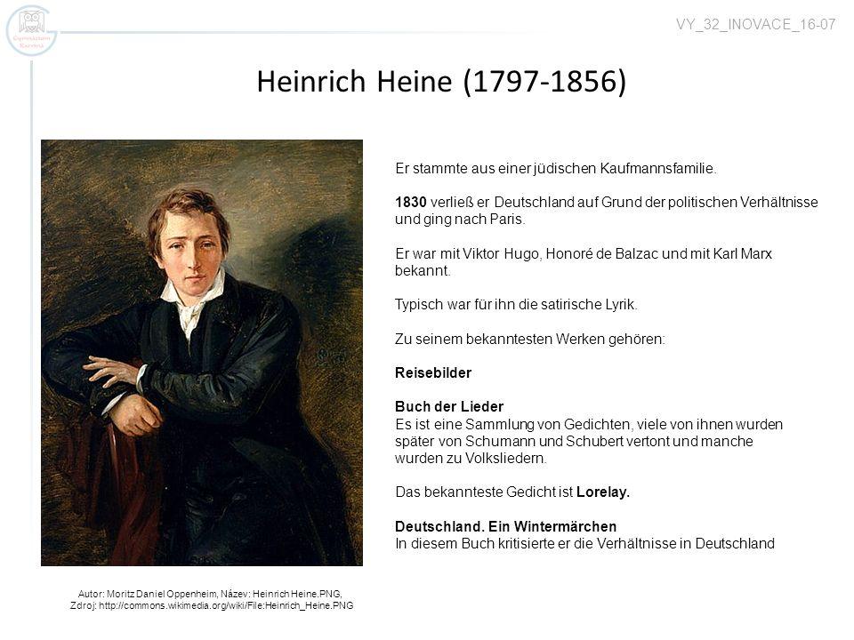 Heinrich Heine (1797-1856) VY_32_INOVACE_16-07