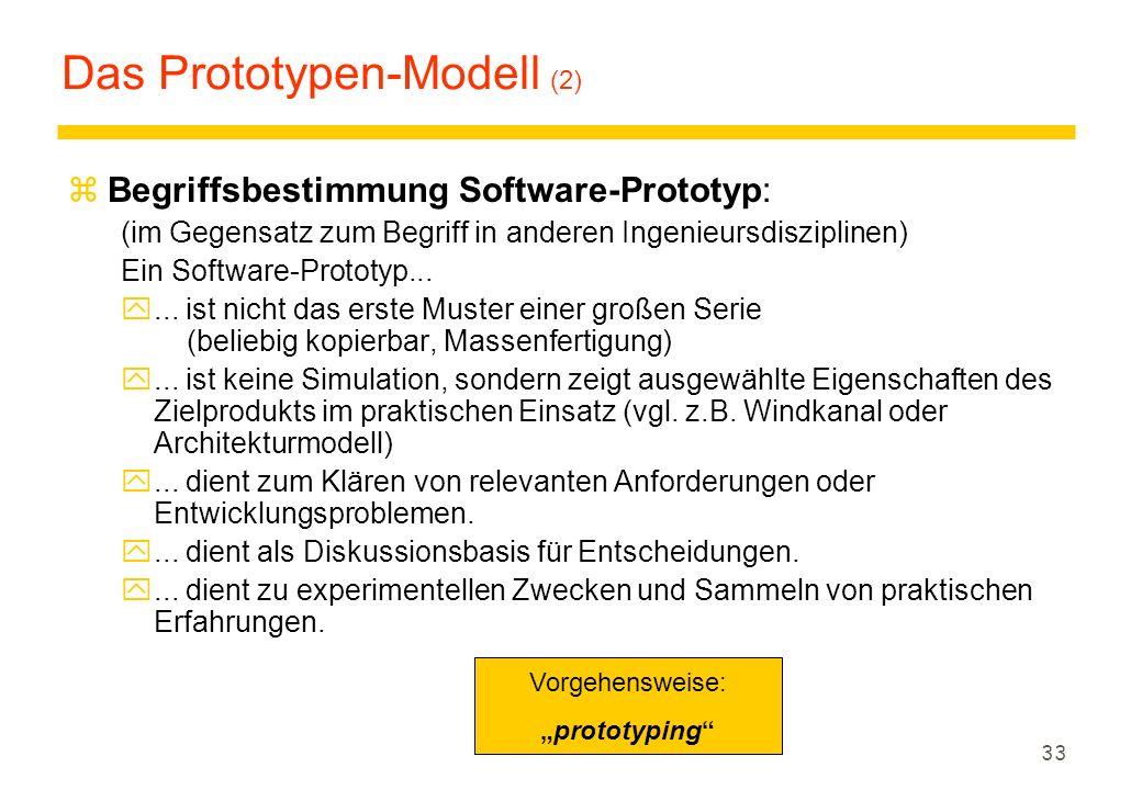 Das Prototypen-Modell (2)